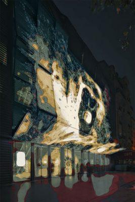 Architectes : Manuelle GAUTRAND _ Cinema ALESIA _ Paris - Photographie : Guillaume GUERIN © 2016